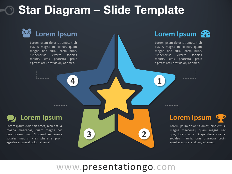 Free Star Diagram PowerPoint Template Slide