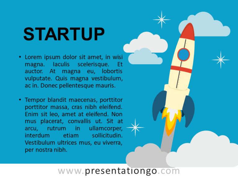 Free Startup - Metaphor Template Slide