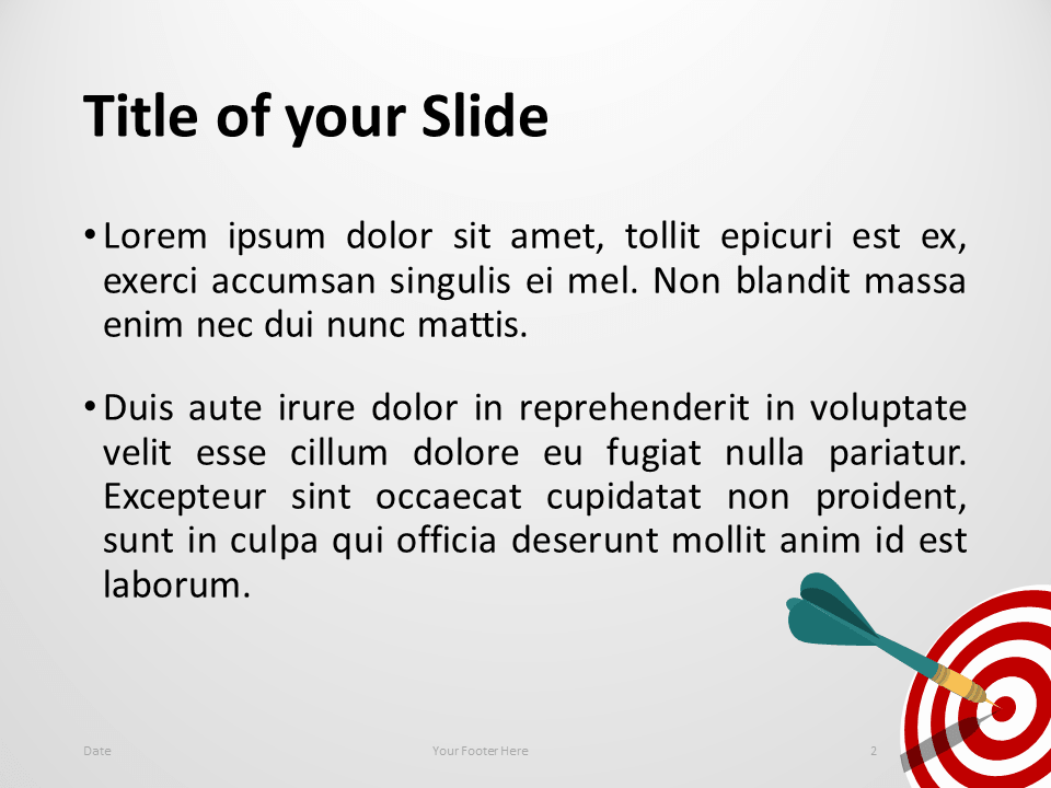 Target Template for PowerPoint - Slide 2