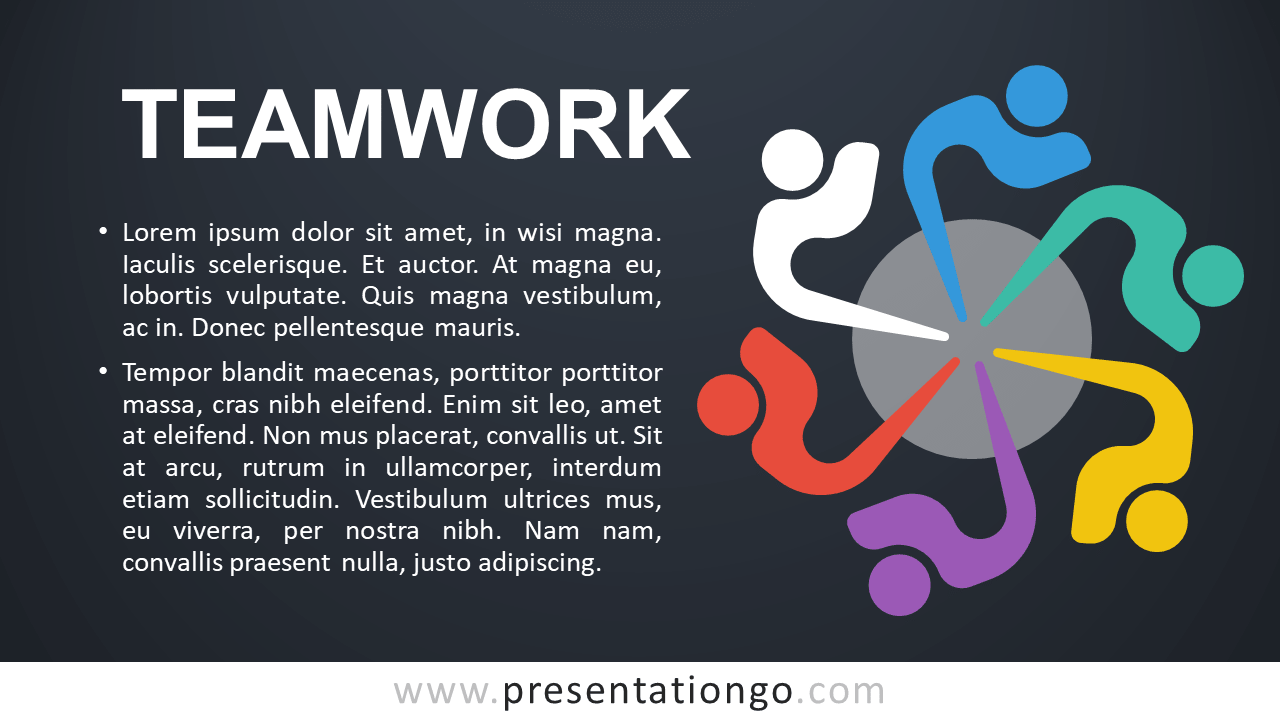 Free Teamwork - Metaphor Template for PowerPoint
