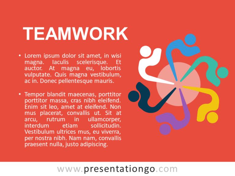 Free Teamwork - Metaphor Template Slide