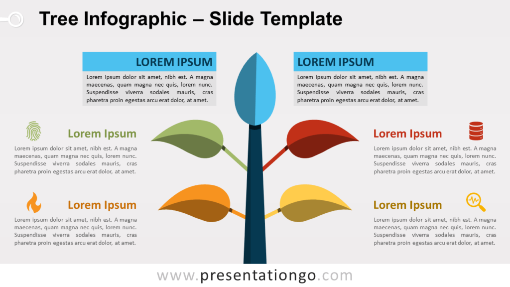 Free Tree Infographic for PowerPoint and Google Slides