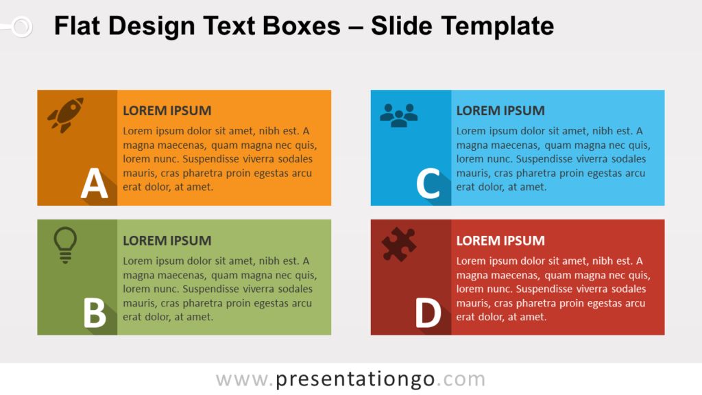 Free YA Flat Design Text Boxes for PowerPoint and Google Slides