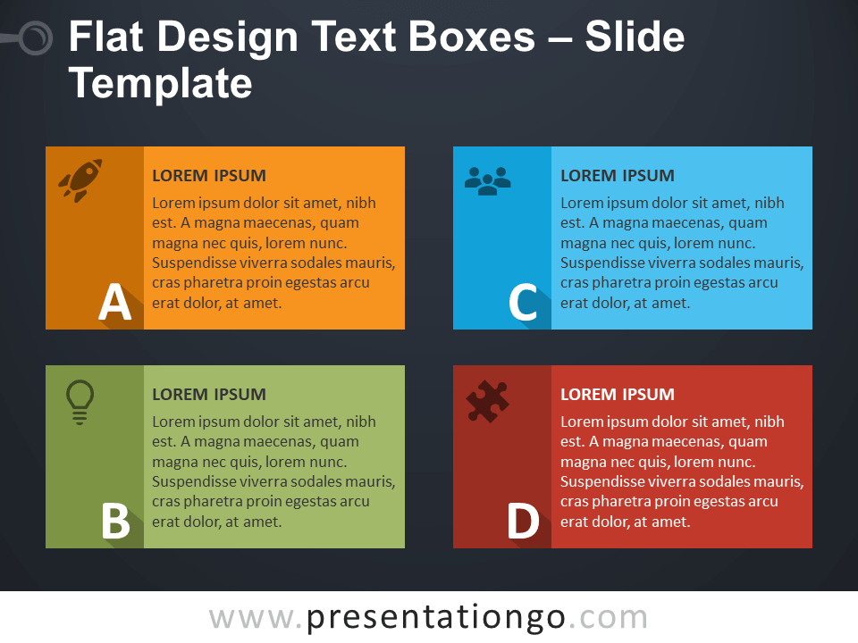 Ya Flat Design Text Boxes For Powerpoint And Google Slides
