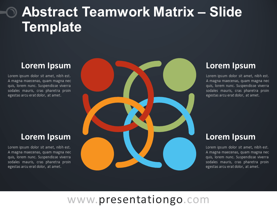 Free Abstract Teamwork Matrix PowerPoint Template