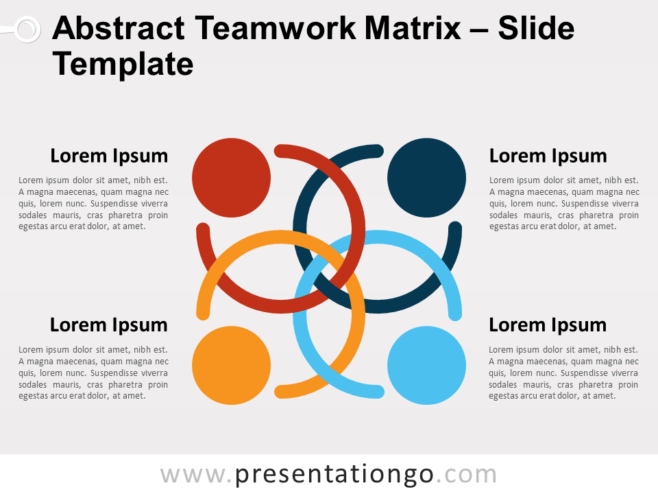 Abstract Teamwork Matrix for PowerPoint and Google Slides