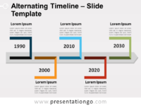 Free Alternating Timeline for PowerPointt
