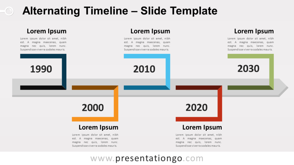 Free Alternating Timeline for PowerPoint and Google Slides