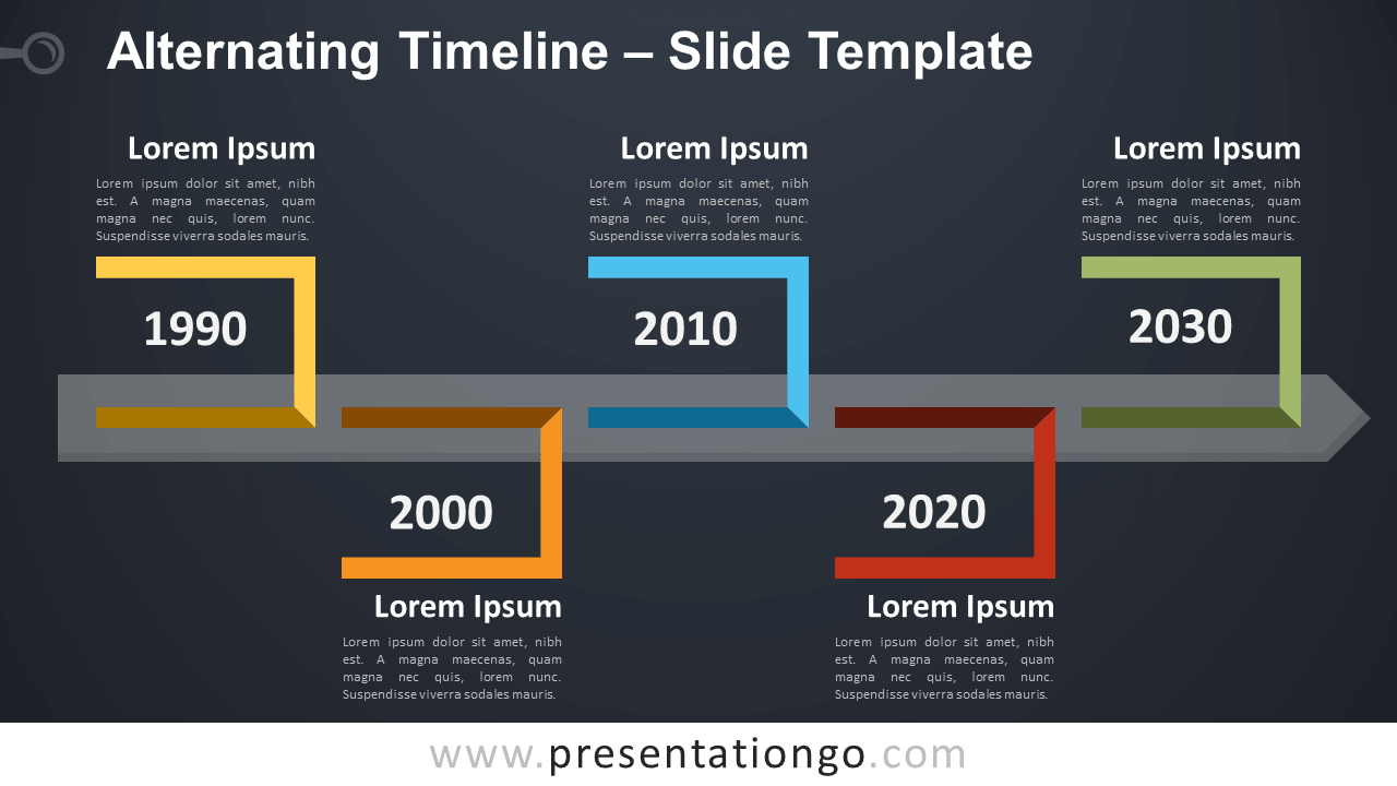 Free Alternating Timeline Template for PowerPoint and Google Slides