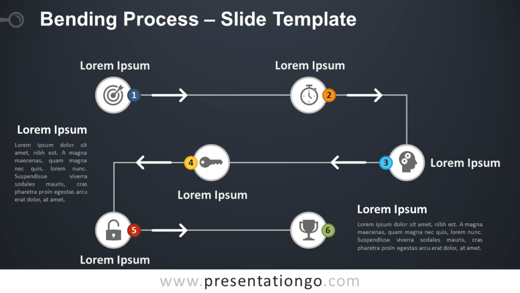 Free Bending Process Diagram for PowerPoint and Google Slides