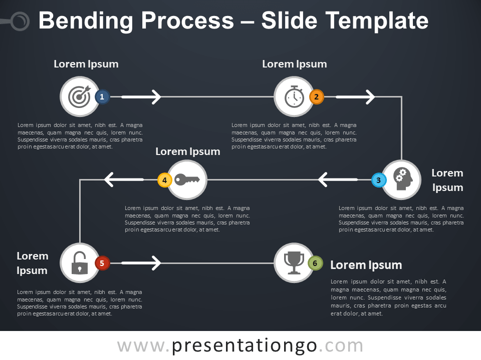 Free Bending Process Diagram for PowerPoint