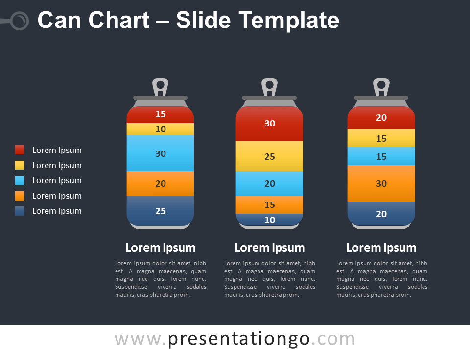 Free Can Chart for PowerPoint - Data Visualization