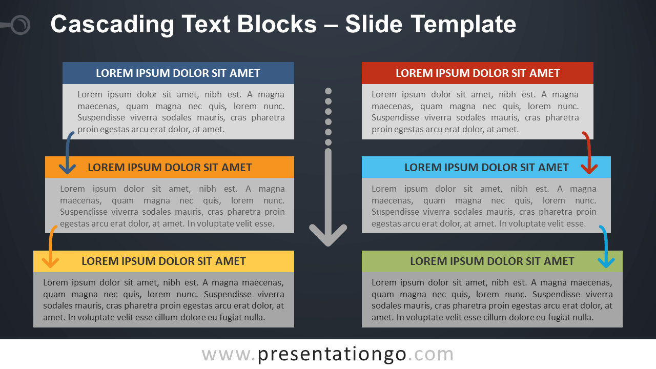 Cascading Text Blocks - Free PowerPoint and Google Slides Template