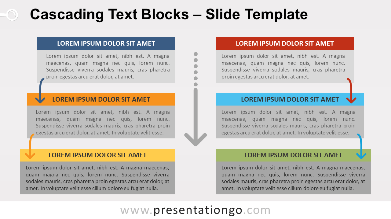 Free Cascading Text Blocks for PowerPoint and Google Slides