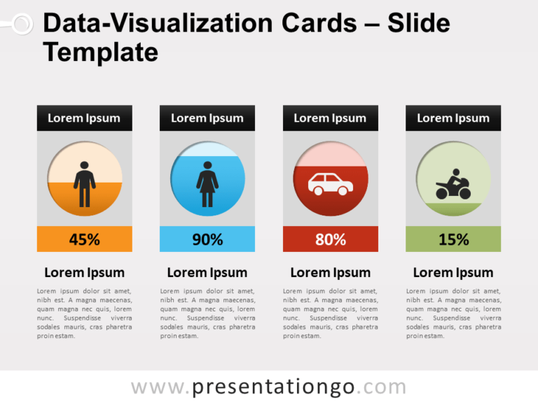 Free Data Visualization Cards PowerPoint
