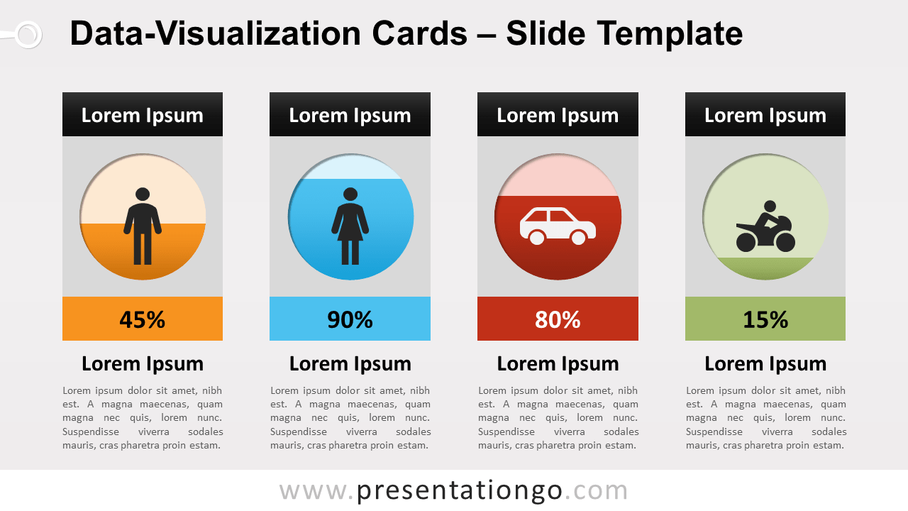 Free Data Visualization Cards for PowerPoint and Google Slides