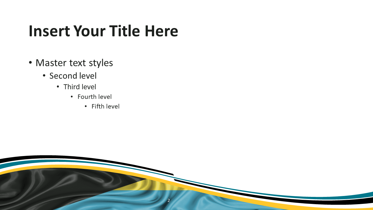 Bahamas Flag PowerPoint and Google Slides Template - Slide 2