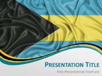 Free Bahamas Flag PowerPoint Template
