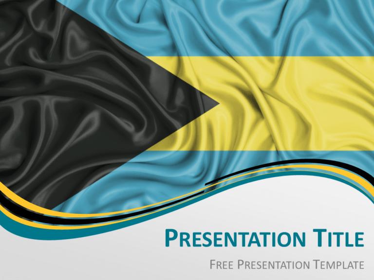 Free Bahamas Flag PowerPoint Template