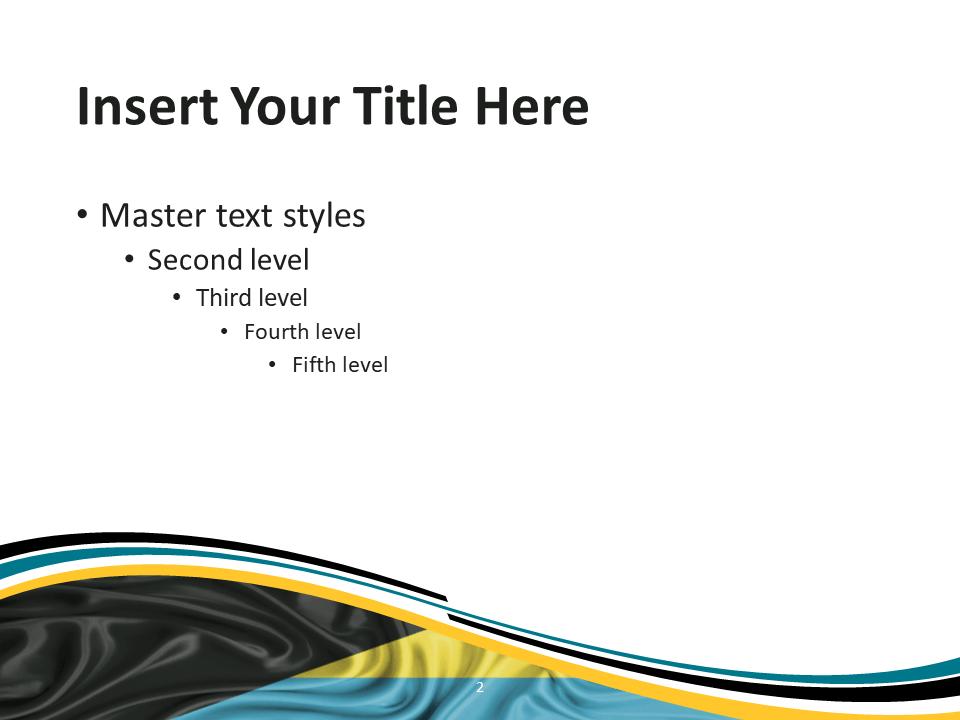 Bahamas Flag PowerPoint Template - Slide 2