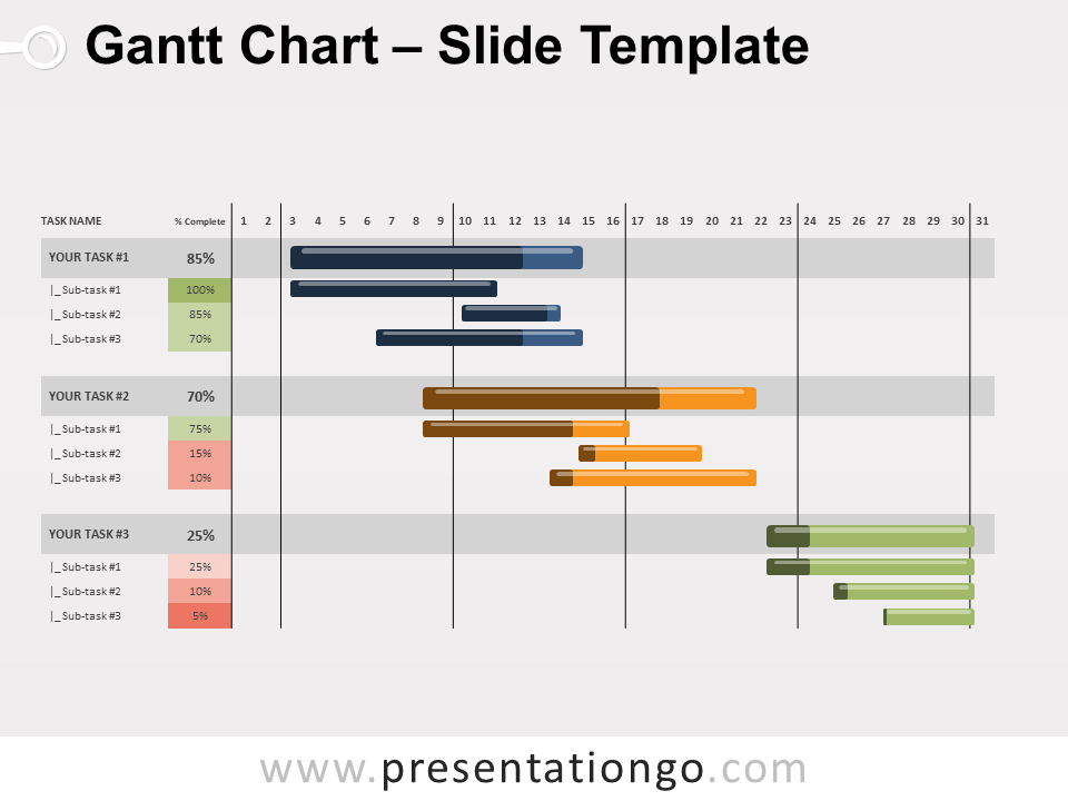 Free Gantt Chart for PowerPoint