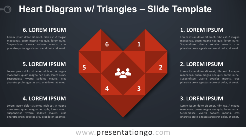 Heart Diagram with Triangles - Free PowerPoint and Google Slides Template