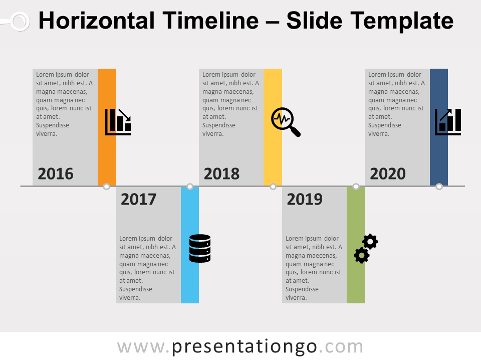 Horizontal Timeline Template from images.presentationgo.com
