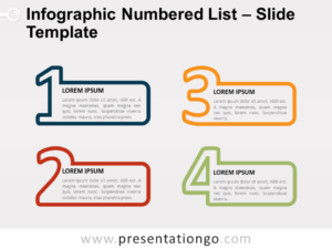 Free Infographic Numbered List for PowerPoint