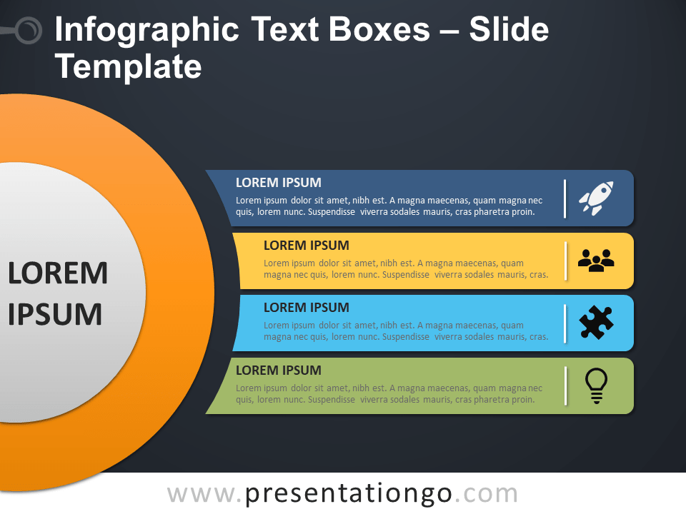 Free Infographic Text Boxes PowerPoint Template