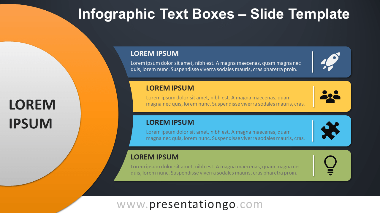 Free Infographic Text Boxes Template for PowerPoint and Google Slides