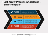 Free List Arrow Process with 4 Blocks for PowerPoint