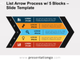 Free List Arrow Process with 5 Blocks for PowerPoint