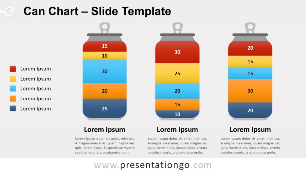 Free Pictorial Stacked Can Chart for PowerPoint