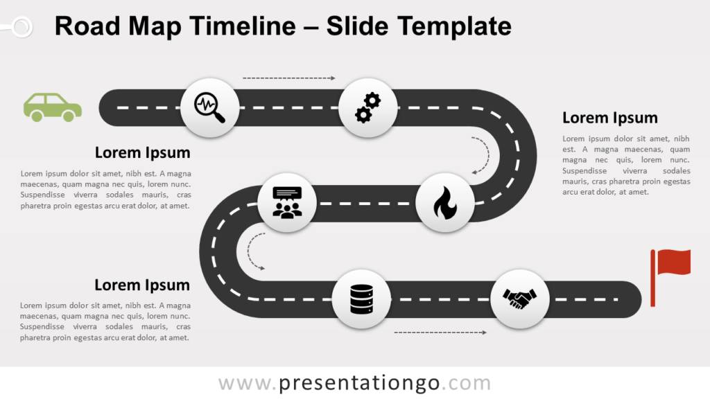 Free Road Map Timeline for PowerPoint and Google Slides
