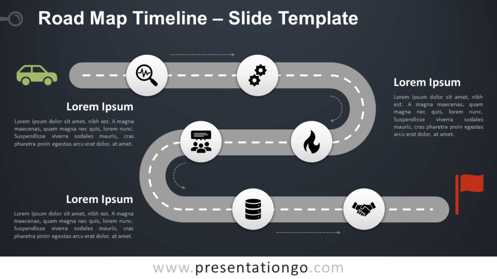 Free Roadmap Timeline for PowerPoint and Google Slides