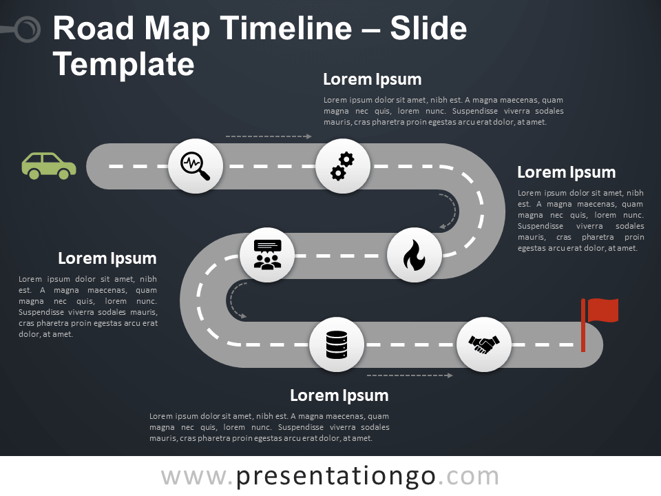 Free Roadmap Timeline for PowerPoint