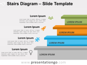 Free Stairs Diagram for PowerPoint