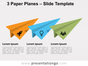 Free 3 Paper Planes for PowerPoint
