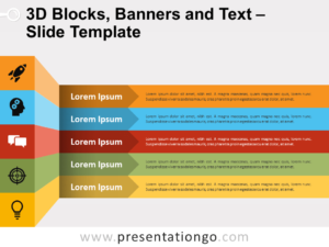 Free 3D Blocks, Banners and Text for PowerPoint