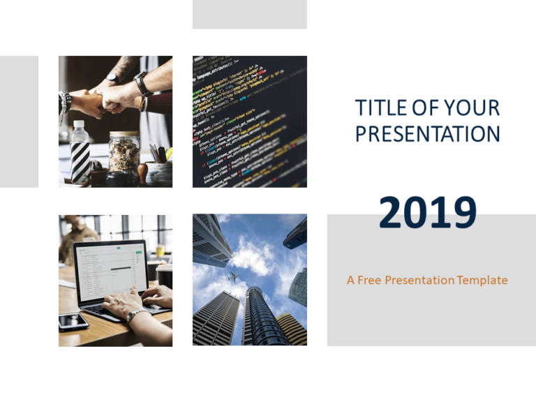 Free Business Report Template for PowerPoint