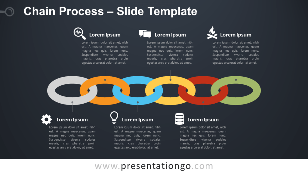 Free Chain Process Diagram for PowerPoint and Google Slides