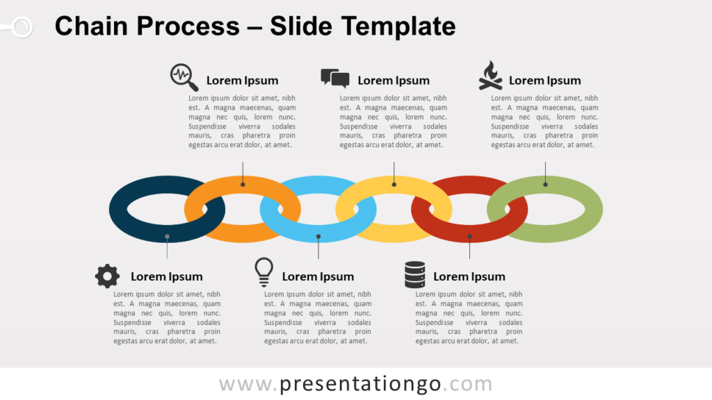 Free Chain Process for PowerPoint and Google Slides