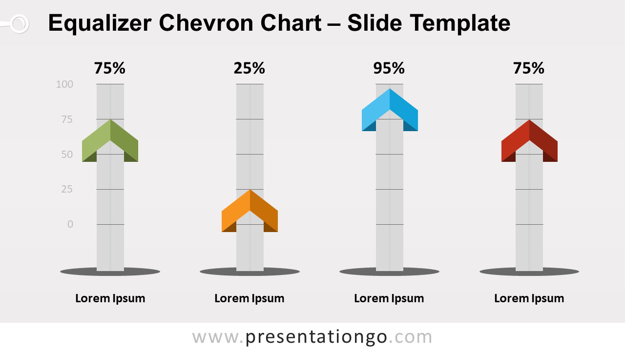 Equalizer Chevron Chart for PowerPoint and Google Slides - Slide 2