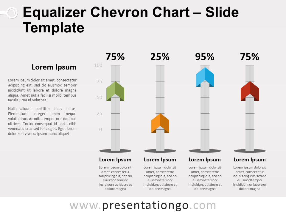 Equalizer Chevron Chart for PowerPoint - Slide 2