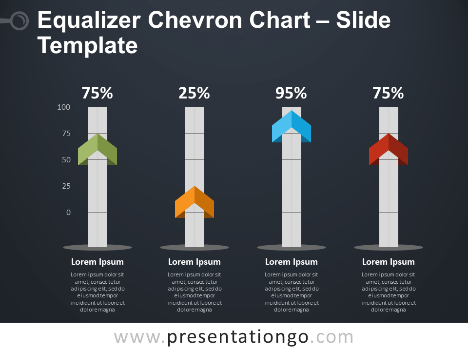 Free Equalizer Chevron Chart PowerPoint Template
