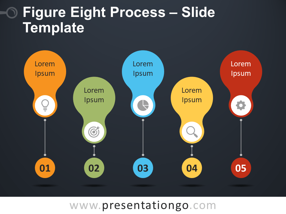 Free Figure-Eight Process Diagram for PowerPoint