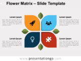 Free Flower Matrix for PowerPoint
