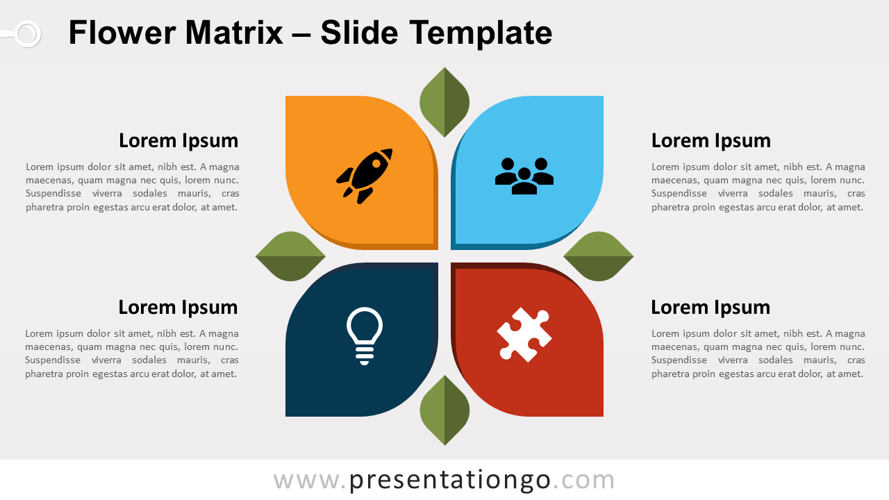 Free Flower Matrix for PowerPoint and Google Slides