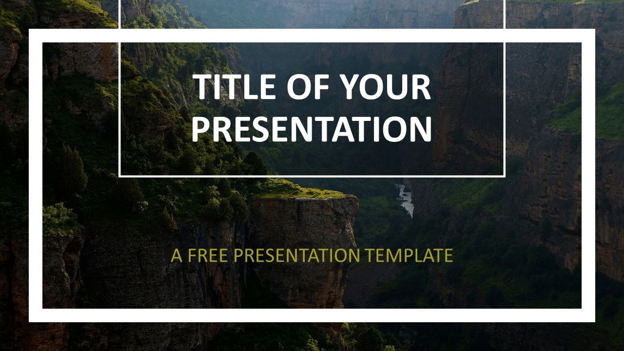 Free Gorge Template for PowerPoint and Google Slides