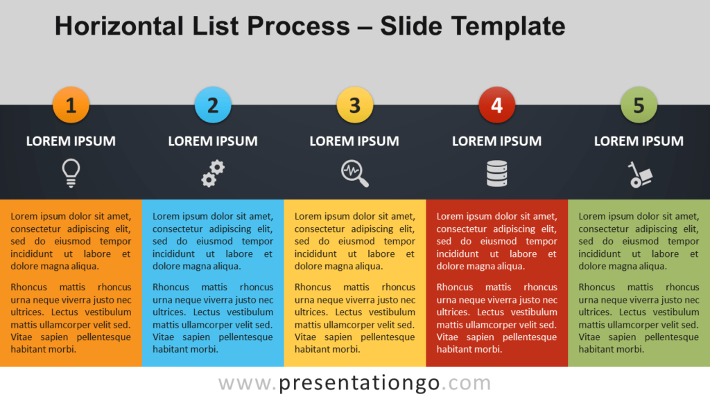 Horizontal List Process - Free PowerPoint and Google Slides Template